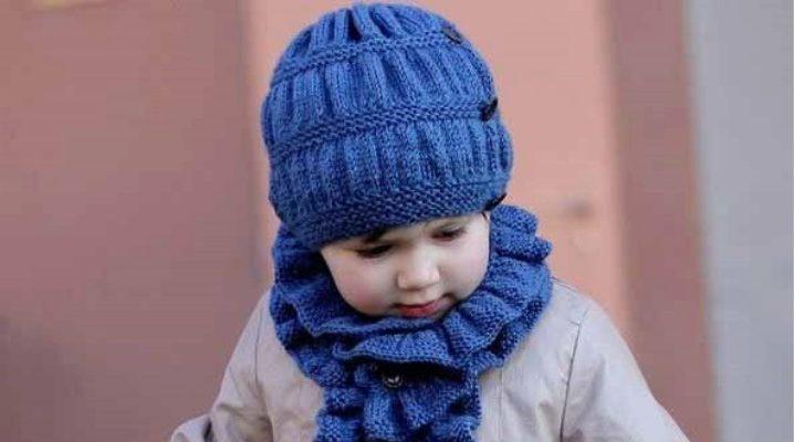 Вязаный шарф для девочки