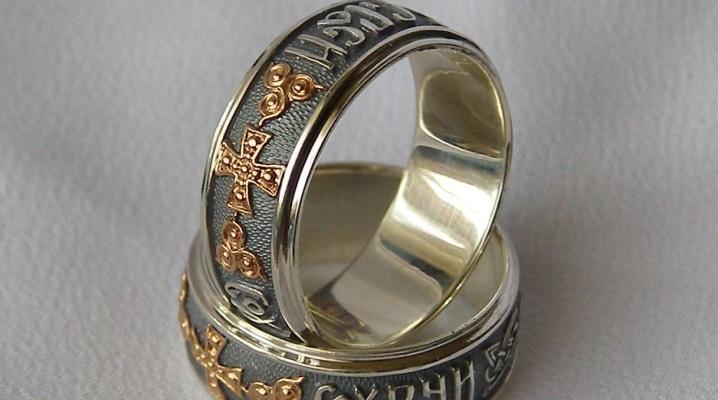 фото кольца спаси и сохрани женские серебряные