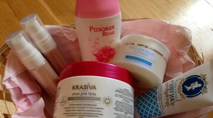 Сайт с кремами для лица и тела
