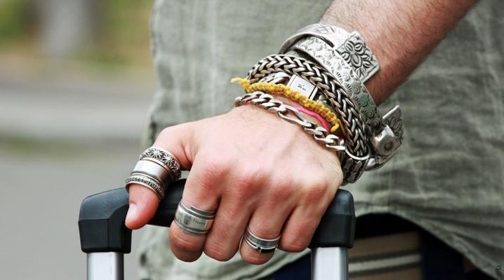 серебряный мужской браслет 109 фото кожаные украшения на руку для