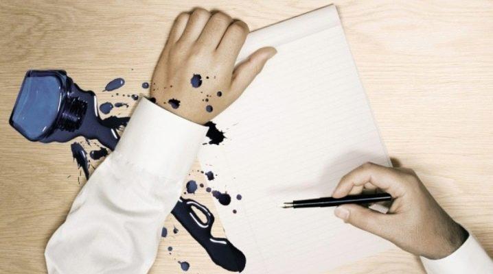 Чем оттереть чернила от ручки?