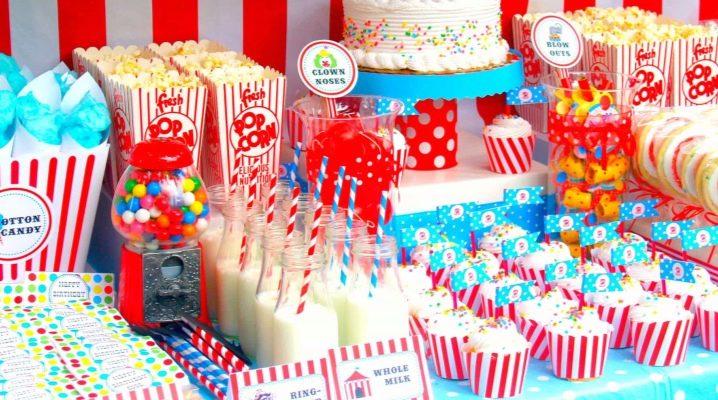 Оформляем стол на детский день рождения