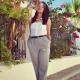 Серые женские брюки