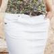 С чем носить белую джинсовую юбку?