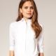 С чем носить женскую белую рубашку (59 фото)