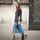 С чем носить длинную джинсовую юбку?