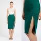 С чем носить юбку карандаш зеленого цвета?