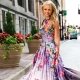 Летнее платье в пол – новинки 2020 года