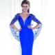 Вечернее платье синего цвета