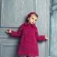 Детское шерстяное пальто для девочки