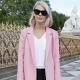С чем носить розовое пальто?
