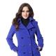 Женское синее пальто