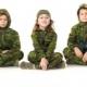 Детский камуфляжный костюм