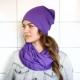 С чем носить фиолетовый шарф?