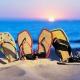 Женские пляжные сланцы