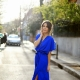 Туфли какого цвета подойдут к синему платью?