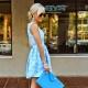 С чем сочетается голубой цвет в одежде?