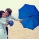 Синий зонт