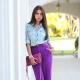 Какие цвета в одежде сочетаются с фиолетовым?
