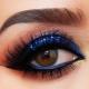 """Макияж """"smoky eyes"""" с синими тенями"""