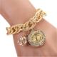 Золотые часы с золотым браслетом