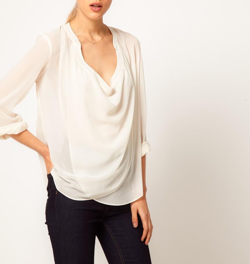 Сексуальная белая блузка девушки 18 фотография