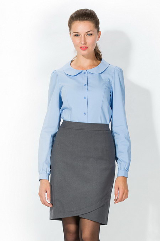 Как сделать белую блузку голубой