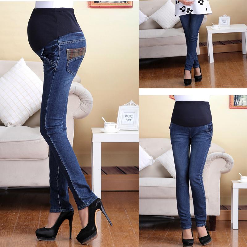 Как носить обычные джинсы беременным 35