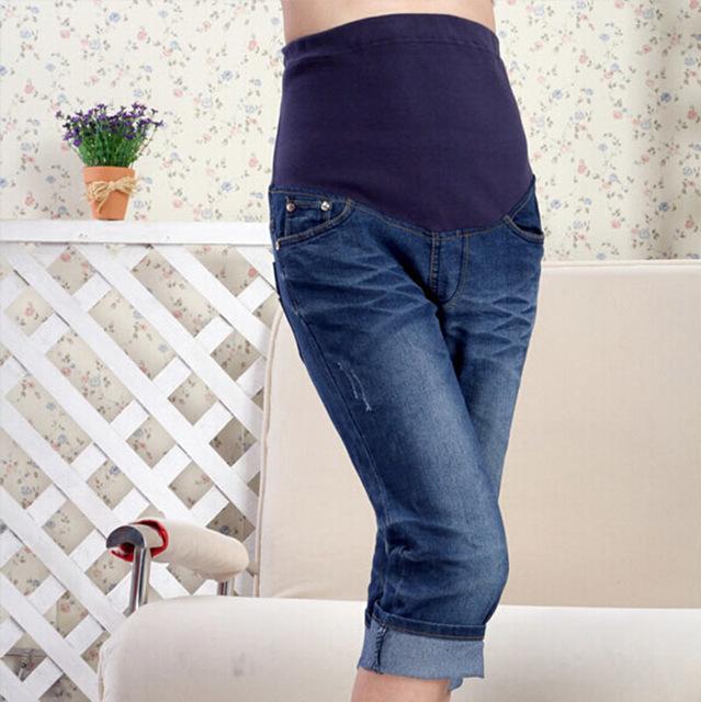 Как сделать из старых джинсов брюки для беременных 75