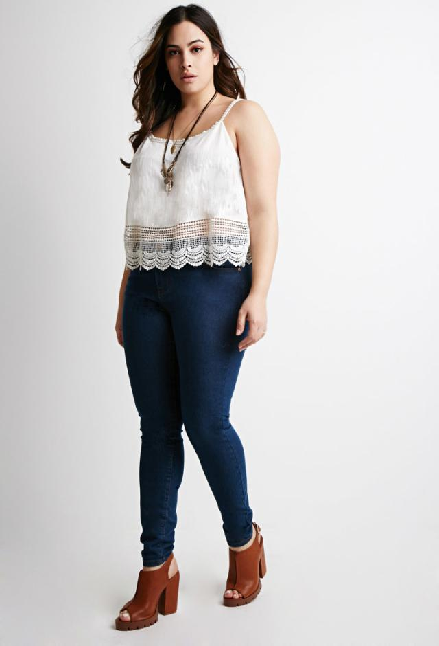 plus size skinny jeans outfits - Jean Yu Beauty