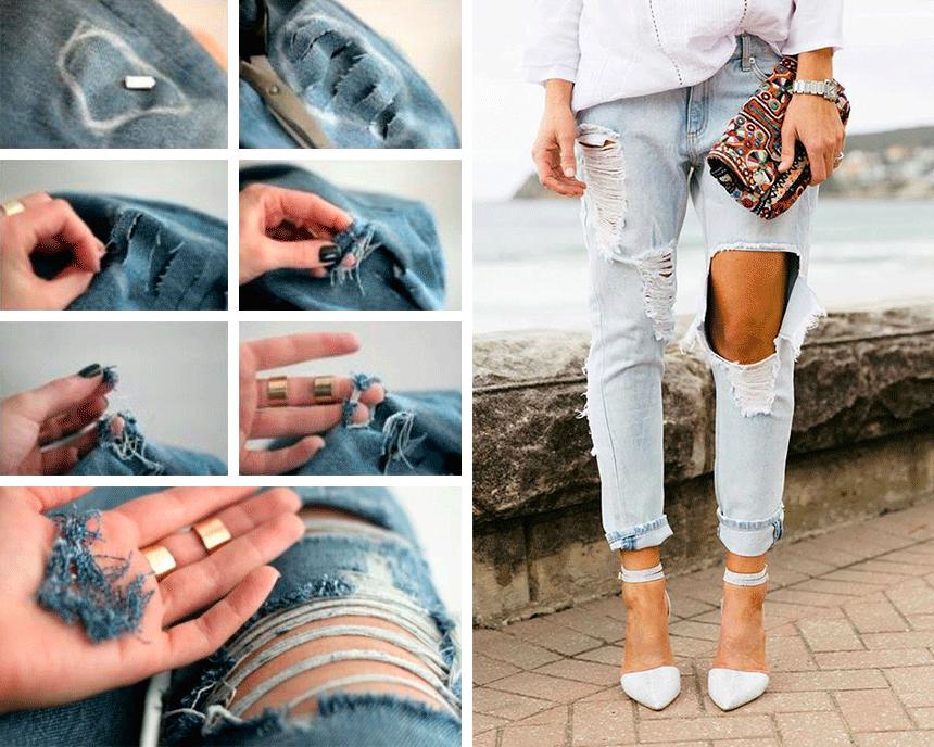 Рваные джинсы своими руками мастер 175