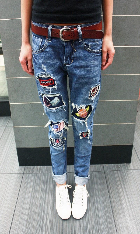 Как украсить джинсы (122 фото) 100