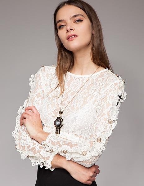 Блузки из гипюра своими руками