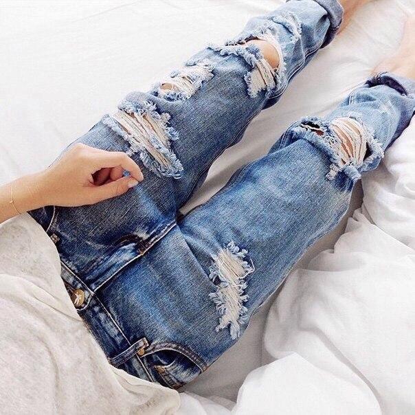 Как сделать рваные джинсы в домашних условиях фото 164