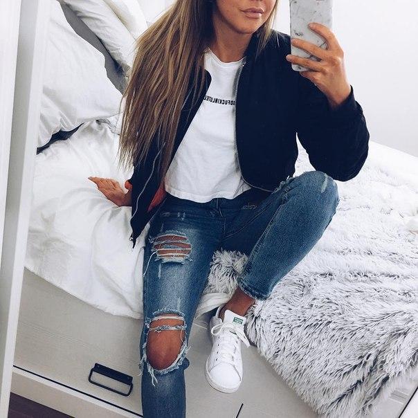 Как самой сделать на джинсах дырки