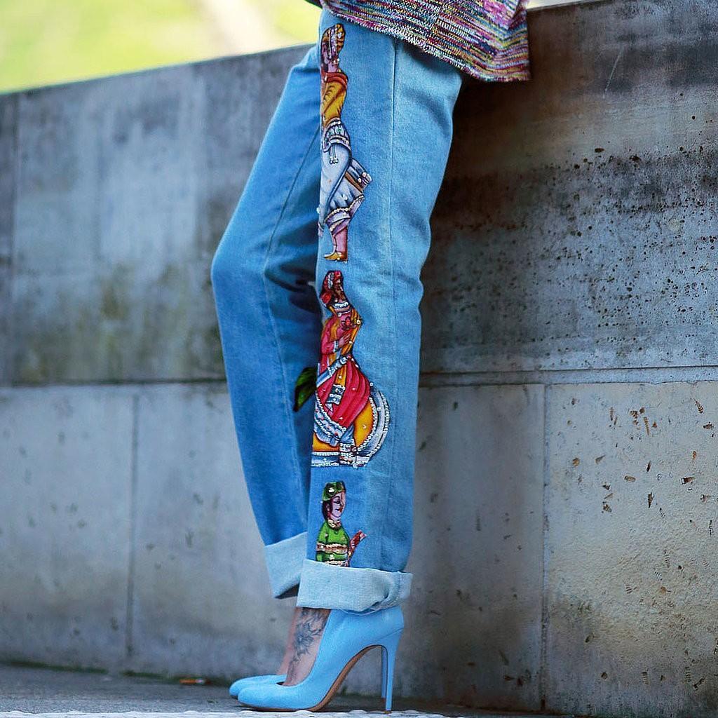 Как украсить джинсы в домашних условиях фото