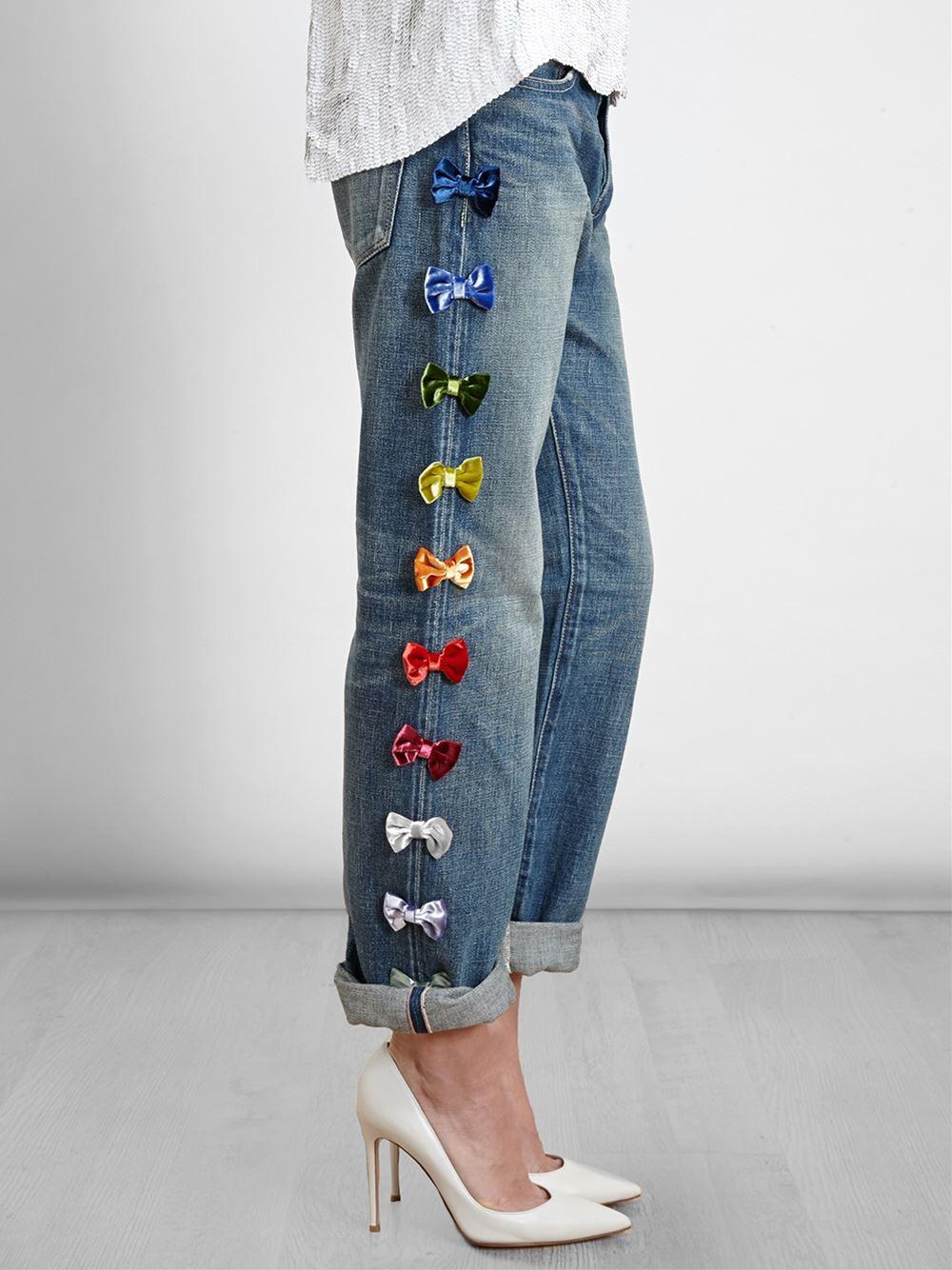 Украсить джинсы бусинами своими руками 2