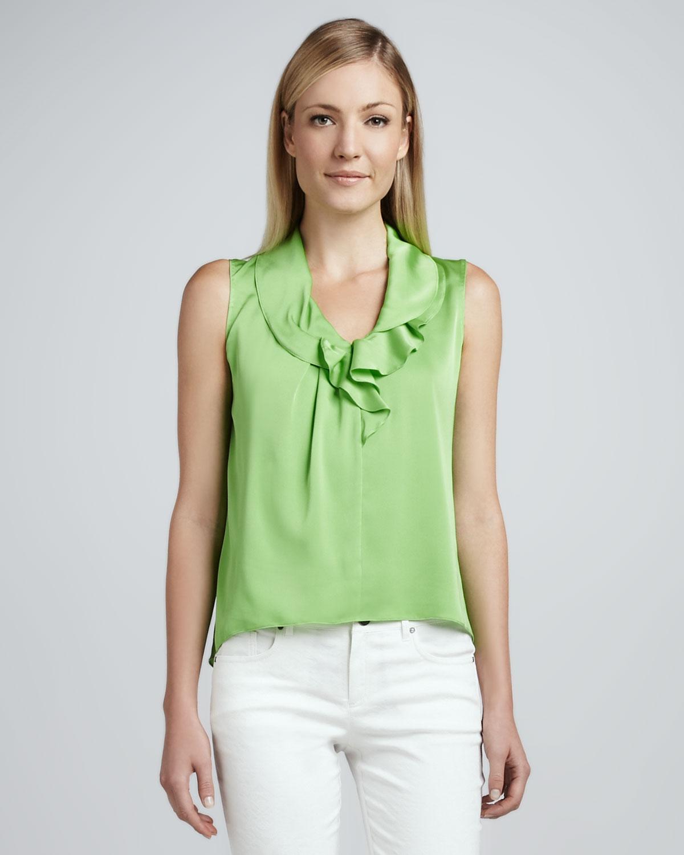 Блузка с гармошкой воротником