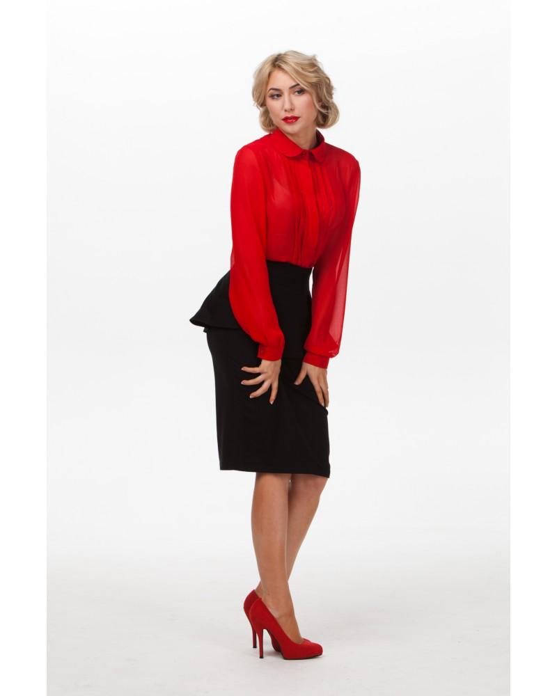 Блузка красная женская