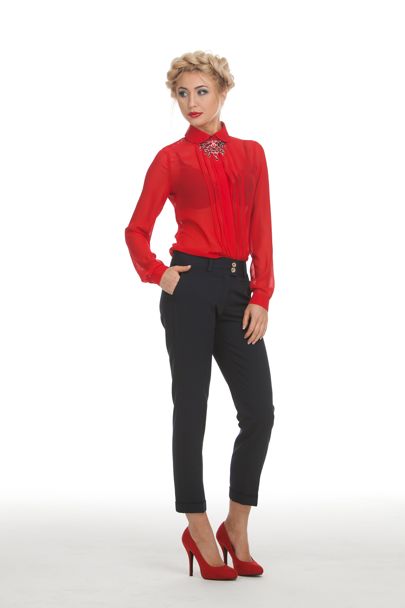 Красная Блузка С Чем Носить