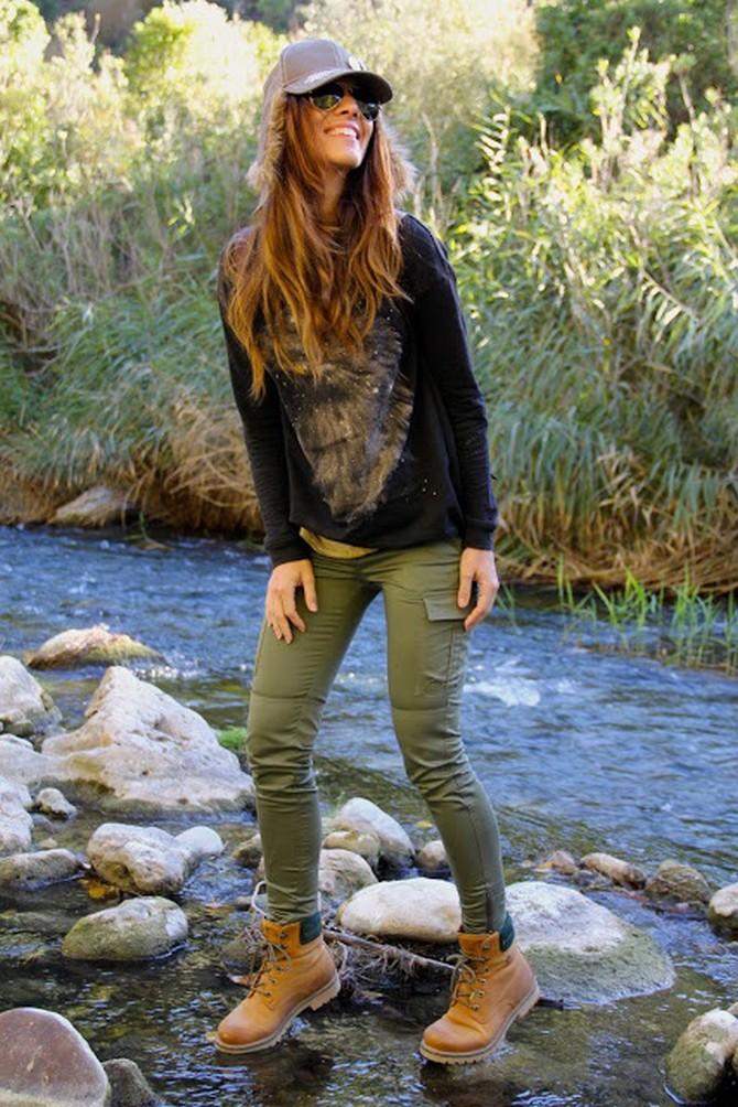 Женские камуфляжные штаны с чем носить