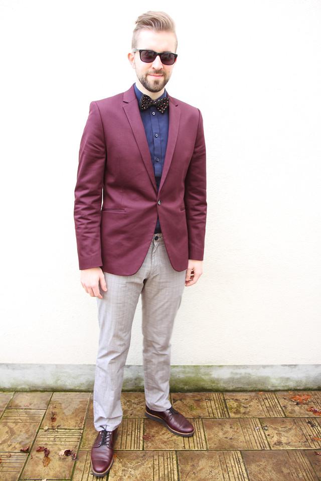 Бордовый джемпер с чем носить