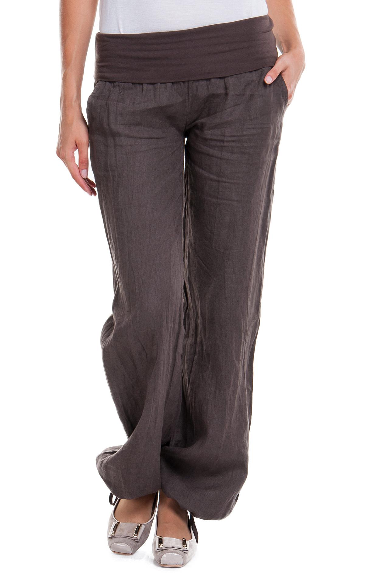 Как сшить летние брюки на резинке внизу