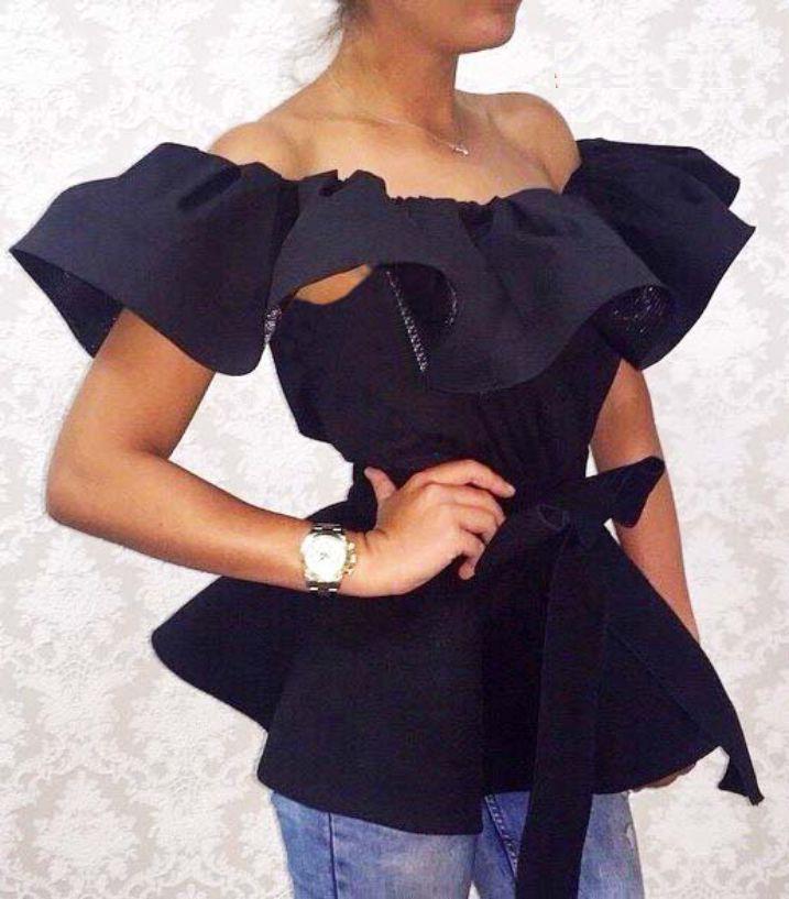 Блузка С Баской На Плечах Купить