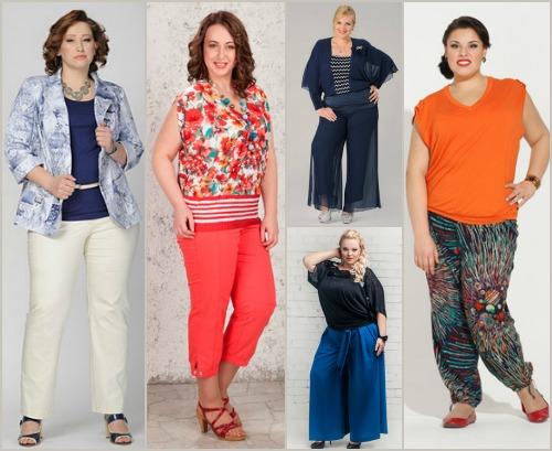 Летние брюки юбка для полных женщин