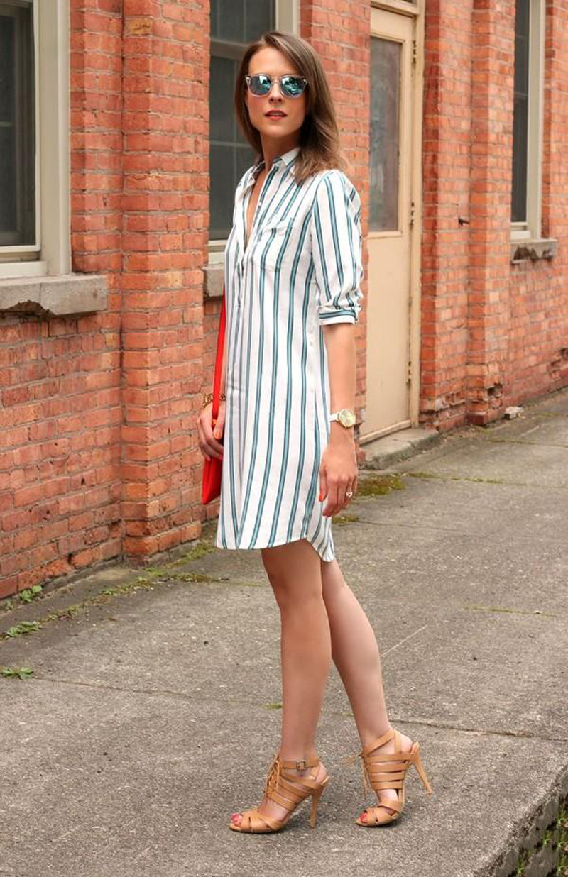 Элегантное платье с рубашкой в