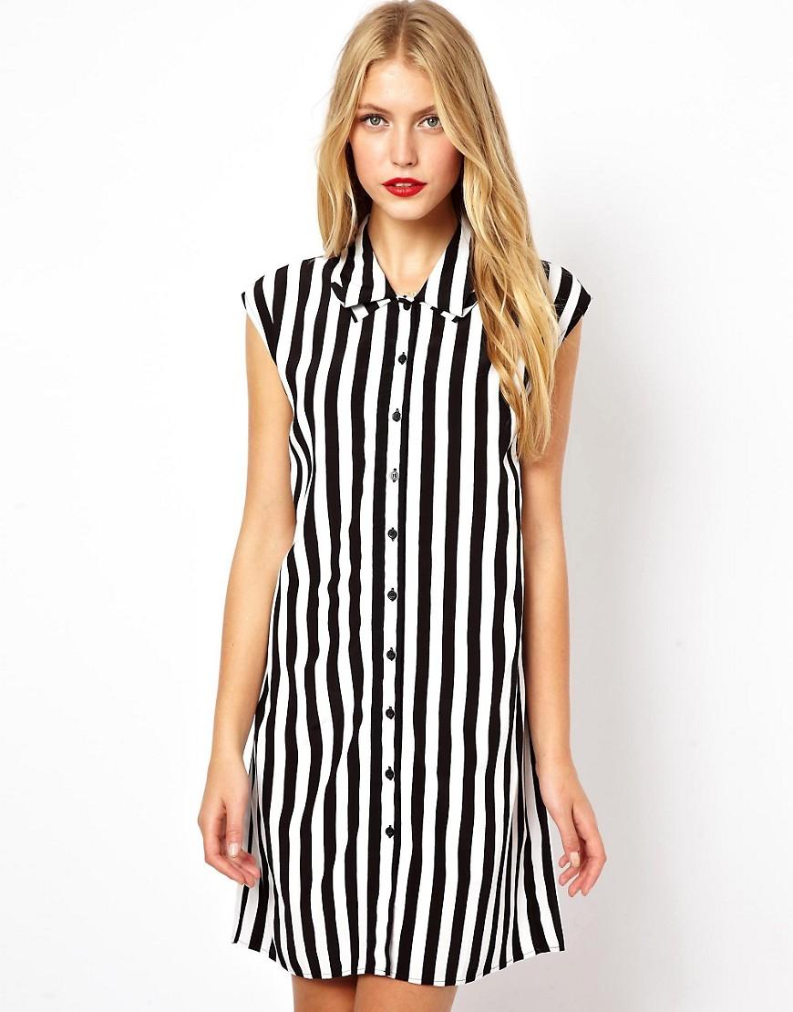 a19965b7c4f Платье-рубашка в полоску 2019 (45 фото)  вертикальная ...