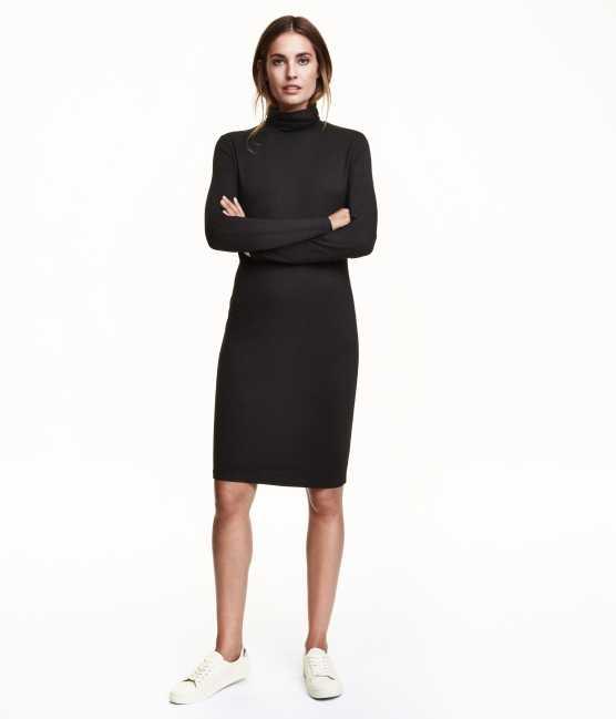 С чем носить узкое платье до колен