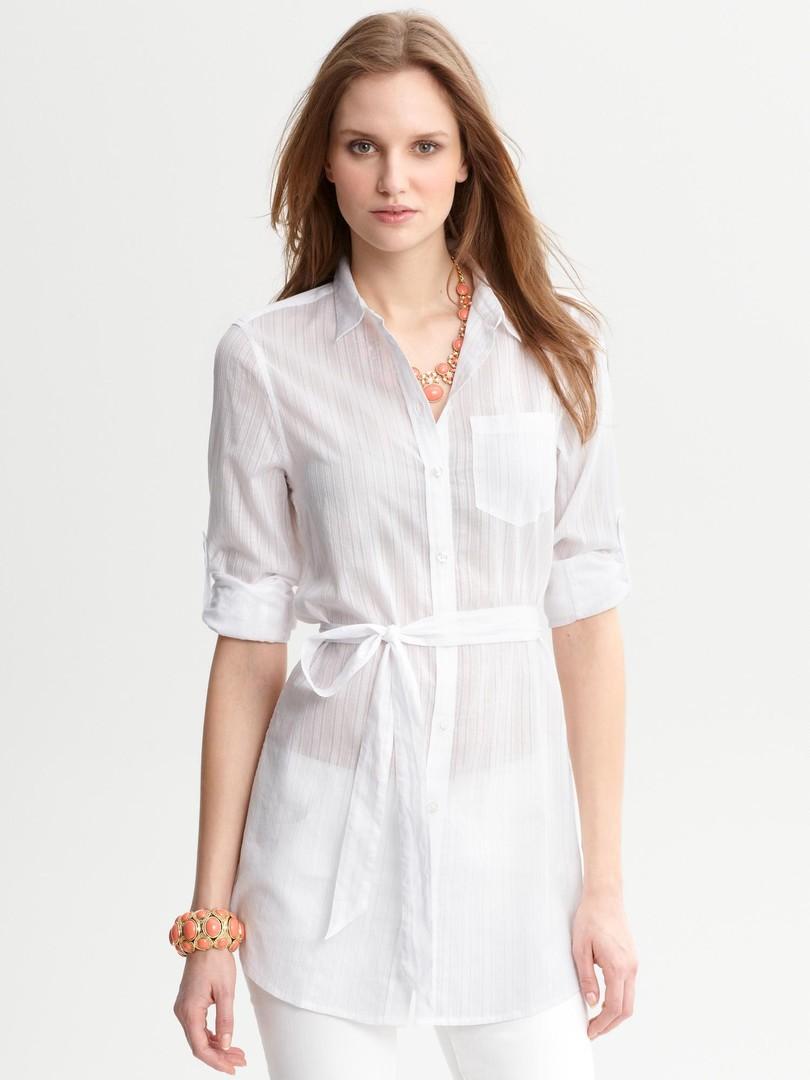 Белая Рубашка Туника