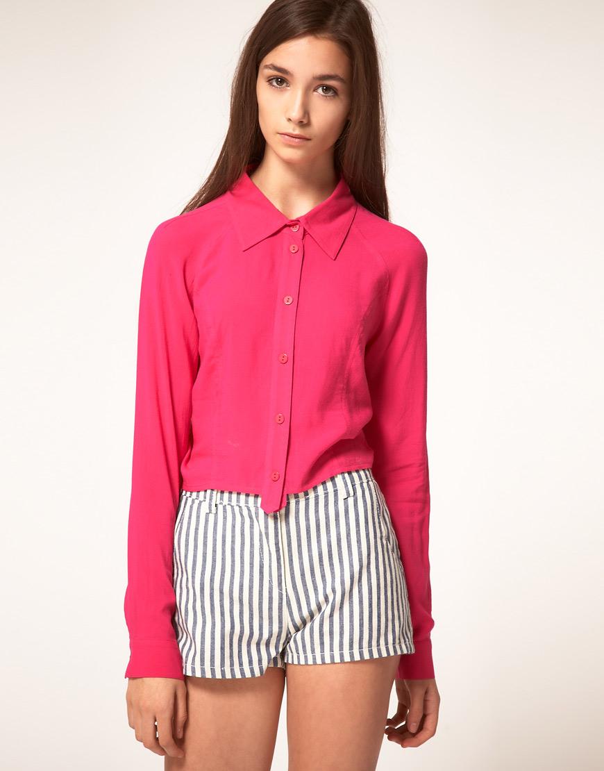 eae3cfd5bbd00d3 Женская розовая рубашка (40 фото): с чем носить, нежно-розовая ...